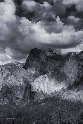 Clouds Over Bridal Veil Falls Art Print