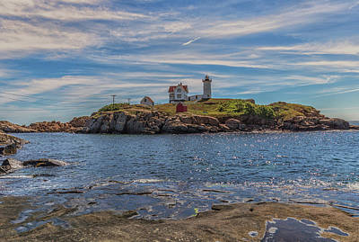 Photograph - Clouds Over Cape Neddick Lighthouse by Brian MacLean
