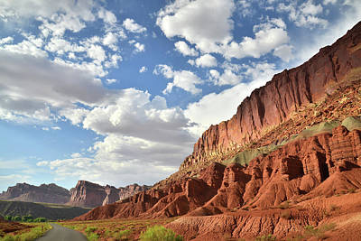 Photograph - Clouds Over Capitol Reef by Ray Mathis