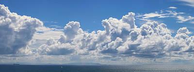 Clouds Over Catalina Island - Panorama Art Print