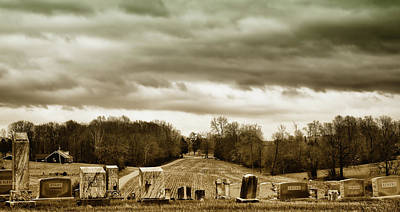 Clouds Over Cemetery Art Print