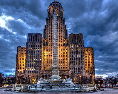 Photograph - Clouds Over City Hall by Don Nieman