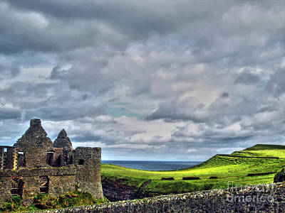 Photograph - Clouds Over Dunluce Castle by Nina Ficur Feenan