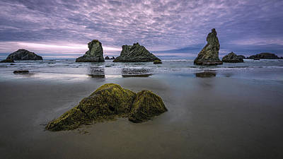Photograph - Clouds Over Face Rock Beach by Rick Strobaugh