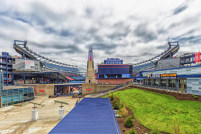 Photograph - Clouds Over Gillette Stadium by Brian MacLean