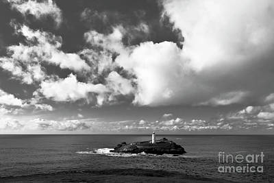 Photograph - Clouds Over Godrevy Lighthouse by Terri Waters