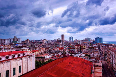 Photograph - Clouds Over Havana by L O C
