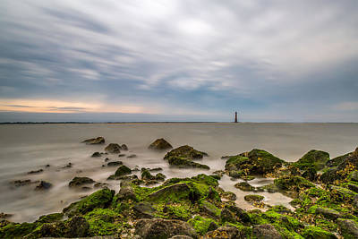 Photograph - Clouds Over Morris Island by Donnie Whitaker