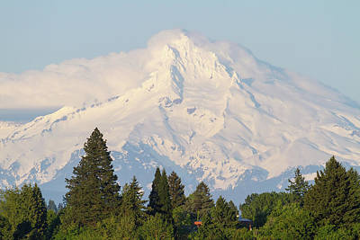 Photograph - Clouds Over Mount Hood Closeup by Jit Lim