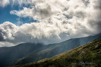 Dan Beauvais Photos - Clouds over Mount Washington 7592 by Dan Beauvais