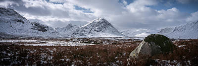 Clouds Over Mountains, Glencoe, Scotland Print by Panoramic Images