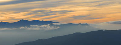 Photograph - Clouds Over Mt. Cammerer by Alan Lenk