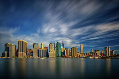 Skylines Royalty-Free and Rights-Managed Images - Clouds Over New York by Rick Berk