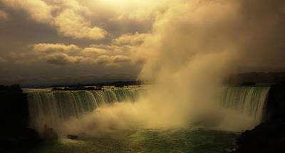 Photograph - Clouds Over Niagara Falls by Mary Capriole