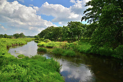 Nippersink Creek Photograph - Clouds Over Nippersink Creek by Ray Mathis