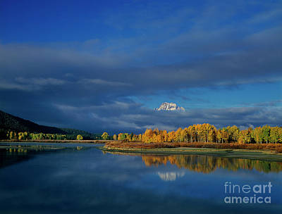 Photograph - Clouds Over Oxbow Bend Grand Tetons Naitonal Park Wyoming by Dave Welling