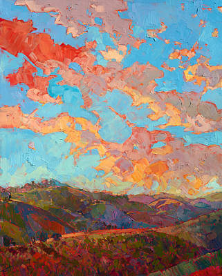 Clouds Over Paso Print by Erin Hanson