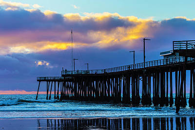 Pismo Beach Photograph - Clouds Over Pismo Pier by Garry Gay