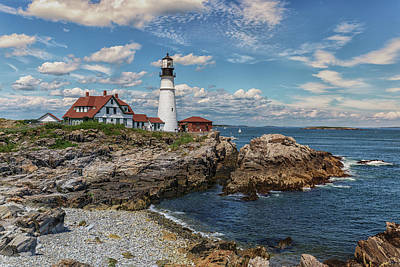 Photograph - Clouds Over Portland Head Lighthouse by Brian MacLean
