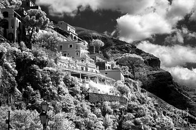 Photograph - Clouds Over Positano by John Rizzuto