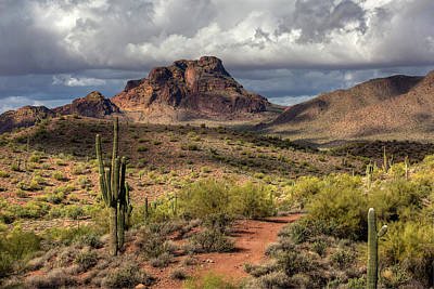 Photograph - Clouds Over Red Mountain by Sue Cullumber