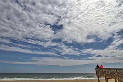 Photograph - Clouds Over Rehobeth Beach Deleware by Stuart Litoff