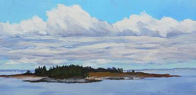 Painting - Clouds Over Richmond Island by Bill Tomsa