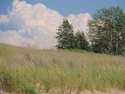 Print featuring the photograph Clouds Over Sand Dunes by Beth Akerman
