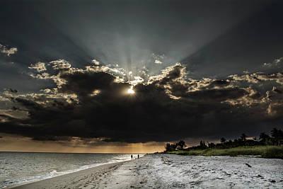 Clouds Over Sanibel Island Florida Art Print
