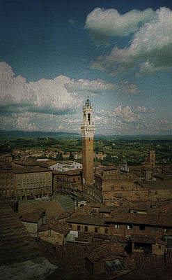 Photograph - Clouds Over Siena by Maria Reverberi
