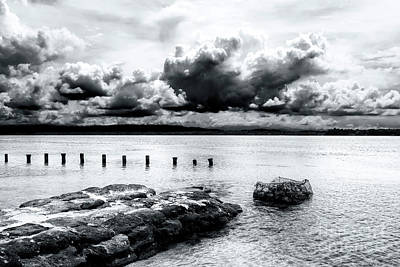 Photograph - Clouds Over Star Beach At Bocas Del Toro by John Rizzuto