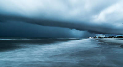 Photograph - Clouds Over The Atlantic - Folly Beach Sc by Donnie Whitaker
