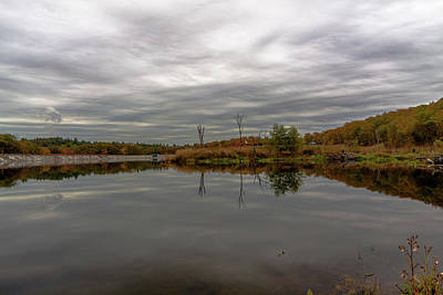 Photograph - Clouds Over The Blue Hills Reservoir by Brian MacLean