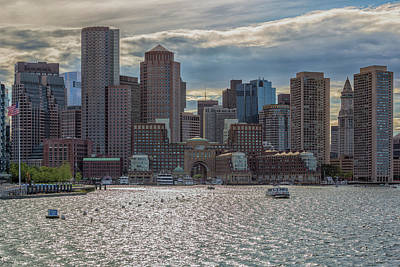 Photograph - Clouds Over The Boston Financial District by Brian MacLean