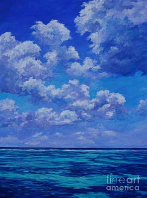 Reef Painting - Clouds Over The Caribbean by John Clark
