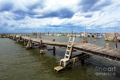 Photograph - Clouds Over The Dock On Long Beach Island by John Rizzuto