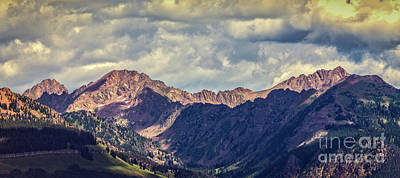 Photograph - Clouds Over The Gore Range by Franz Zarda