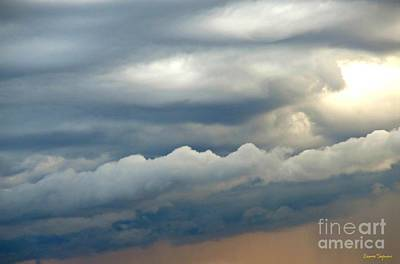 Photograph - Clouds Over The Horizon At Sunset 1 by Leanne Seymour