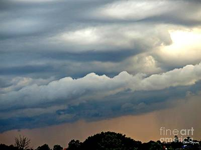 Photograph - Clouds Over The Horizon At Sunset by Leanne Seymour