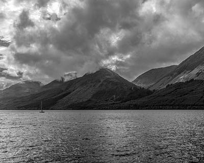 Photograph - Clouds Over Loch Lochy, Scotland by Printed Pixels