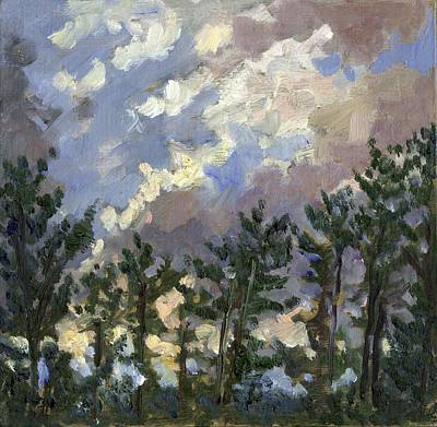 Painting - Clouds Over The Pines Tanglewood by Thor Wickstrom