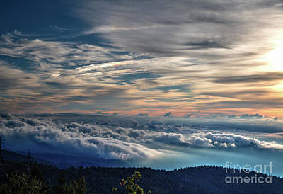 Print featuring the photograph Clouds Over The Smoky's by Douglas Stucky