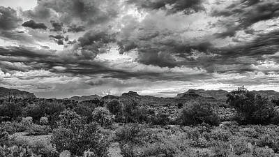 Clouds Over The Superstitions Art Print