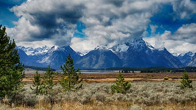 Photograph - Clouds Over The Tetons by Linda Shannon Morgan