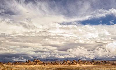Clouds Over Trona Pinnacles Art Print by Duane Miller
