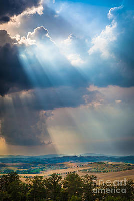 Montalcino Photograph - Clouds Over Tuscany by Inge Johnsson