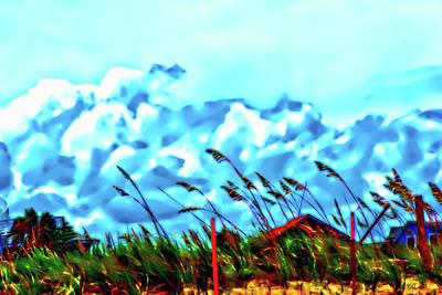 Clouds Over Vilano Beach Art Print
