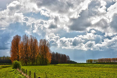 Clouds Over Voorne Art Print