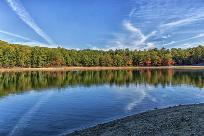 Thoreaus Cabin Photograph - Clouds Over Walden Pond by Brian MacLean