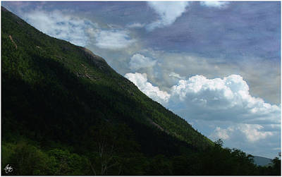 Photograph - Clouds Over Webster Cliffs by Wayne King